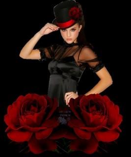 Hölgy kalapban